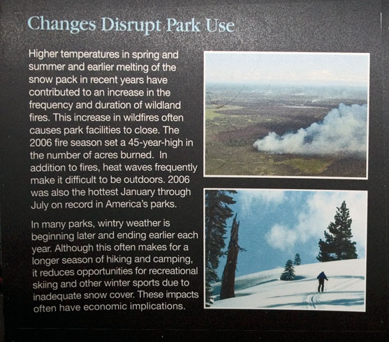 Lower Left Section of NPS/NASA Exhibit on Arrange for Change